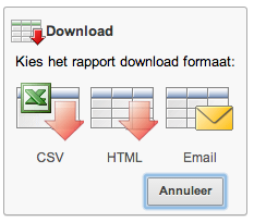 Kies download formaat
