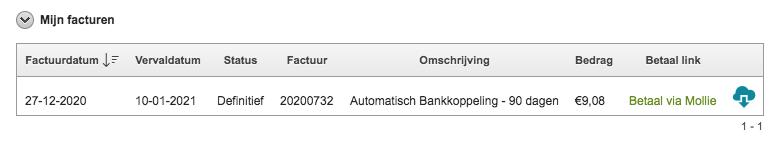 Activeren Bankkoppeling 7